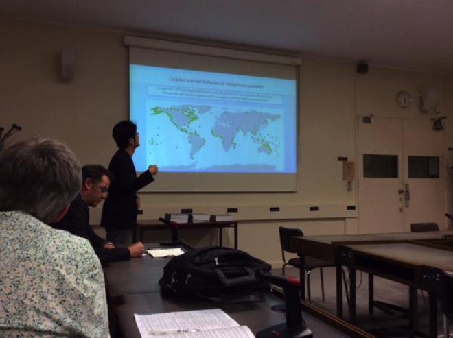 Yoshitaka Ota presenting on impacts of climate change on indigenous people. Credit: Johanna Lee Sadik (@johannaleesadik).