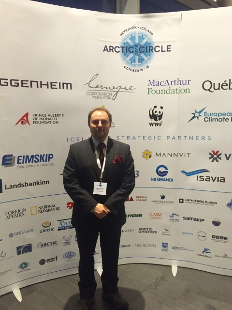 Richard Caddell, Senior Fellow (Utrecht), at the Arctic Circle Conference.