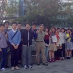 Yoshitaka Ota、北海道大学の学生に海洋の持続可能性につい ての講義をする