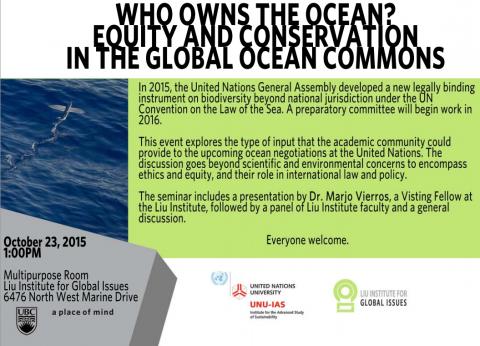 liu institute who owns the ocean