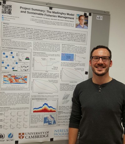 Philip Underwood, Senior Nereus Fellow from UNEP-WCMC/University of Cambridge, presented a poster summary of his plans to develop a fisheries model based upon the Madingley General Ecosystem Model.