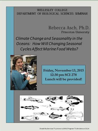 Rebecca Asch poster climate change and seasonality