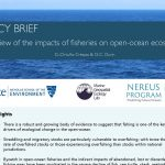 POLICY BRIEF: A review of the impacts of fisheries on open-ocean ecosystems