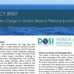 POLICY BRIEF: Climate Change in Oceans Beyond National Jurisdictions