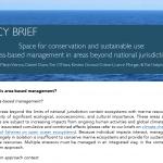 政策概要:保全と持続可能な利用のためのスペース:国家管轄権を超えた領域における地域型管理