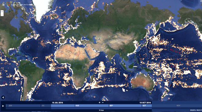 Global Fishing Watch July to October 2016