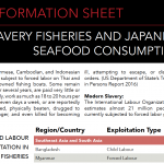 INFORMATION SHEET: Slavery fisheries and Japanese seafood consumption