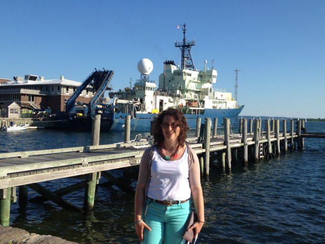 Rebecca Asch at R/V Atlantis, Credit: Jasmin John, NOAA/GFDL
