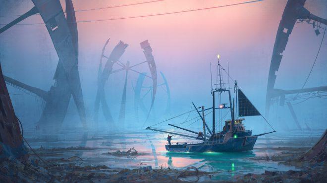 """""""Rime of the Last Fisherman"""" by Simon Stålenhag"""