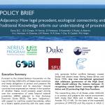 政策概要: 隣接:判例、生態学的つながり、伝統的知識がどのように隣接性を理解するか